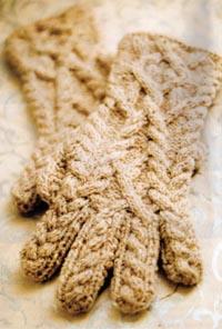 вязание перчаток спицами салон рукоделия меланж