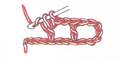 Филейная сетка с пустыми и заполненными клеточками, выполненная столбиками с накидом (фото 2)
