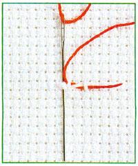 Вышивание по ткани Аида нечетным количеством нитей (фото 3)