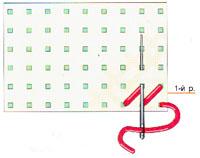 Вышивка крестиком по диагонали. Двойная диагональ справа налево (фото 1)