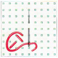 Вышивка крестиком по диагонали. Простая диагональ (фото 3)